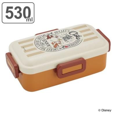 お弁当箱 1段 ふわっと弁当箱 4点ロック チップとデール クッキング 530ml ランチボックス ( チップ&デール 弁当箱 レンジ対応 食洗機対応 仕切り付き )
