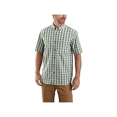 特別価格Carhartt Men's 104174 Relaxed Fit Lightweight Plaid Shirt - Medium - Musk G好評販売中
