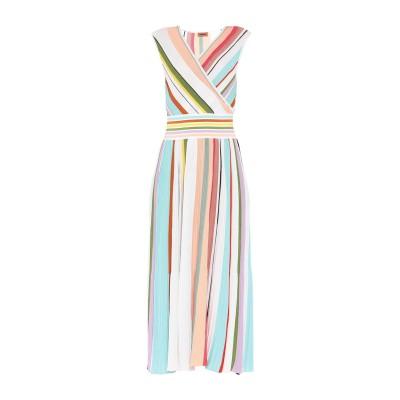 ミッソーニ MISSONI 7分丈ワンピース・ドレス スカイブルー 48 コットン 100% 7分丈ワンピース・ドレス