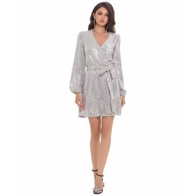 ベッツィ アンド アダム ワンピース トップス レディース Short Long Sleeve Holo Knit Dress Blush/Silver