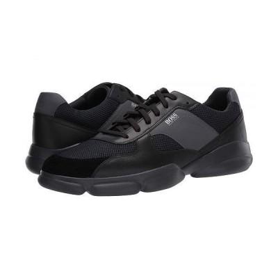 BOSS Hugo Boss ボス メンズ 男性用 シューズ 靴 スニーカー 運動靴 Rapid Low Top Sneaker by BOSS - Black 1