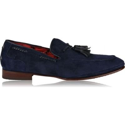 ジェフリー ウエスト JEFFERY WEST メンズ ローファー シューズ・靴 Suede Tassel Loafers Dark Blue