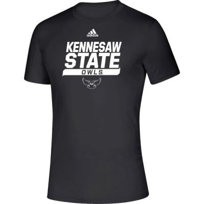 アディダス adidas メンズ Tシャツ トップス Kennesaw State Owls Creator Black T-Shirt