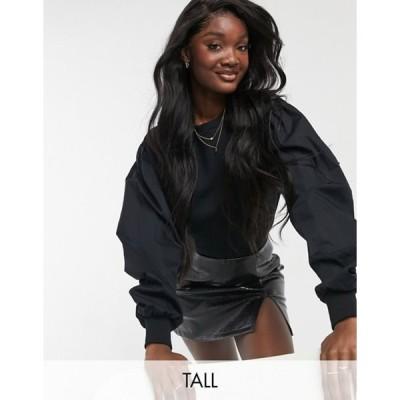 ベロモーダ レディース シャツ トップス Vero Moda Tall volume sweatshirt in black