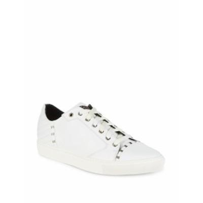ヴェルサーチ メンズ スニーカー Leather Low-Top Sneakers