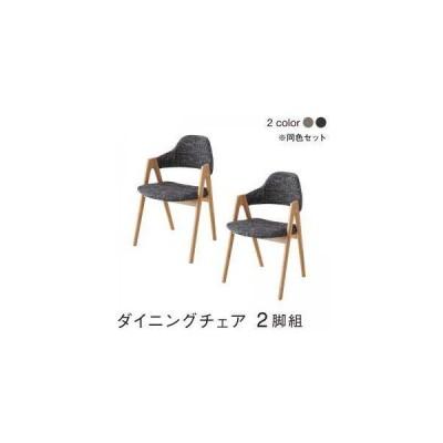 ダイニングチェア 2脚 椅子 おしゃれ 北欧 アンティーク 座面高45 ファブリック 完成品 背もたれ 肘付き クッション コンパクト 小さめ モダン スタイリッシュ