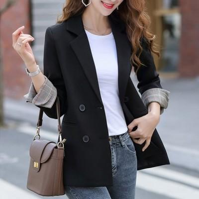テーラードジャケット ショート丈 スリム 大人可愛い カジュアル フェミニン こなれ感 春 お出かけ 通勤 デート 女子会