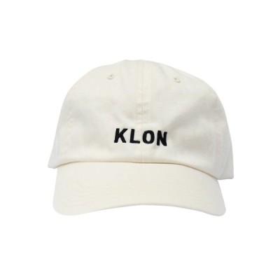 キャップ 帽子 モノトーン シンプル  KLON CAP LOGO WHITE クリスマス 彼氏 彼女
