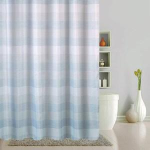 經典條紋防水浴簾180x180cm