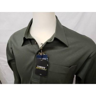 メンズ 未使用 LORDY カーキ モスグリーン プルオーバー 長袖シャツ トップス CB-20
