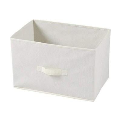 不二貿易 不織布製 インナー ボックス 3個セット 幅38x高25cm アイボリー 78447
