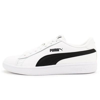 PUMA Smash v2 L Shoes-White/Black 36521501(1801)