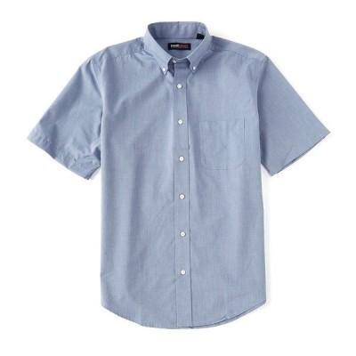 ランドツリーアンドヨーク メンズ シャツ トップス TravelSmart Short-Sleeve Solid End-on-End Sportshirt Royal