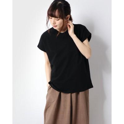 ジーラ GeeRA 綿100%プチハイネックTシャツ (ブラック)