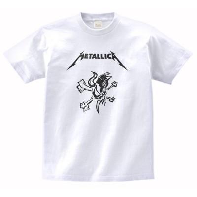 音楽・バンド・ロック・シネマ  Tシャツ METALLICA 白