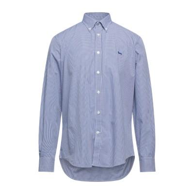 HARMONT&BLAINE シャツ ダークブルー L オーガニックコットン 100% シャツ