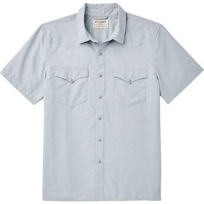 フィルソン Filson メンズ 半袖シャツ トップス Snap Front SS Shirt Blue Stone