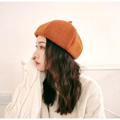 ベレー帽  レディース 毛糸  欧米風  西洋式 可愛い帽子5色