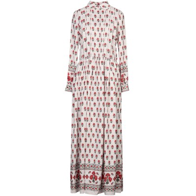 ミアハタミ MIAHATAMI ロングワンピース&ドレス アイボリー 40 ポリエステル 100% ロングワンピース&ドレス