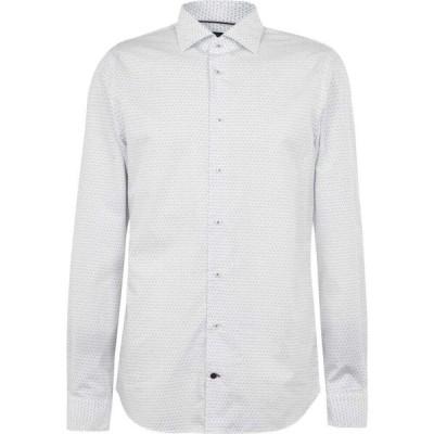 トミー ヒルフィガー Tommy Hilfiger メンズ シャツ トップス Classic Print Shirt White/Blue