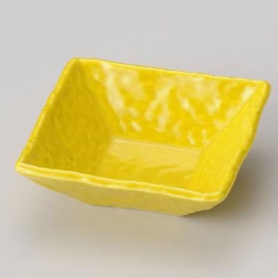 業務用食器 黄正角浅小鉢 11×11×3.9cm 松花堂