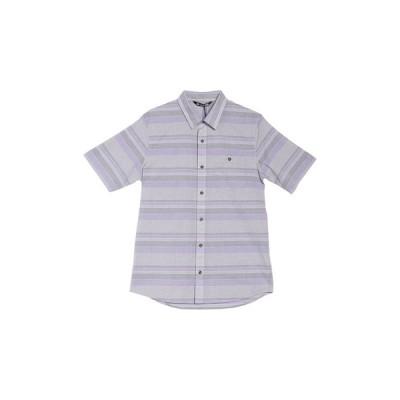 トラビス・マシュー メンズ シャツ トップス Fist Bump Stripe Print Short Sleeve Shirt HEATHER CADET