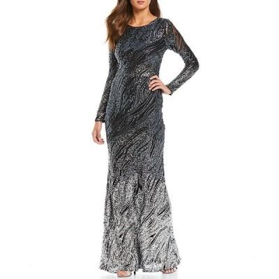 ベッツィアンドアダム レディース ワンピース トップス Stretch Sequin Ombre Gown