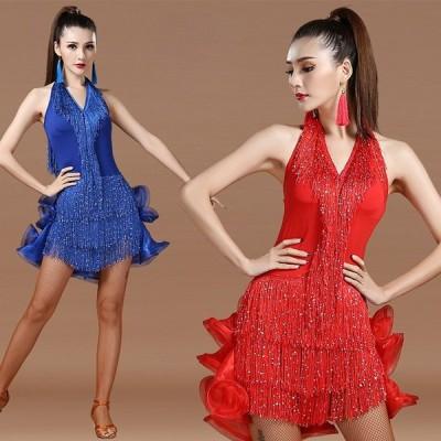 ラテンダンス衣装 社交ダンス衣装 DANCE/練習着 ダンスウェア イベント カジュアル ステージ衣装 レディース 女性用