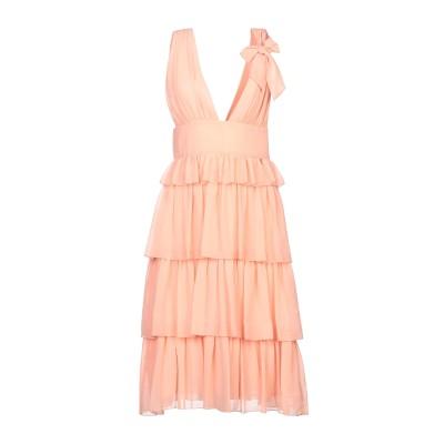 レリッシュ RELISH ミニワンピース&ドレス サーモンピンク XS ポリエステル 100% ミニワンピース&ドレス