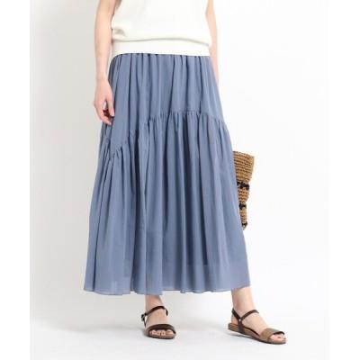 WORLD ONLINE STORE SELECT / 【XS~L/洗える】綿シフォンティアードスカート WOMEN スカート > スカート