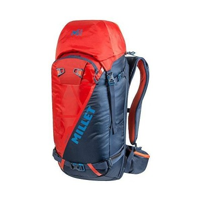 Millet Neo 35+ Unisex Adults' Hiking Ski Backpack, Orion Blue/Fire, One Size 並行輸入品