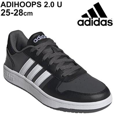 スニーカー メンズ シューズ ローカット アディダス adidas アディフープス ADIHOOPS 2.0 U/スポーツ カジュアル 黒 ブラック 靴 LEY10 男性 /FY8626