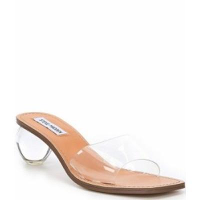 スティーブ マデン レディース サンダル シューズ Visionary Clear Vinyl Round Heel Dress Sandals Clear
