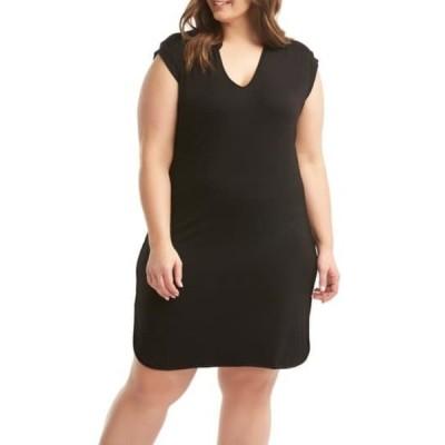 レモンタルト レディース ワンピース トップス Mellie Sheath Dress (Regular & Plus Size) BLACK