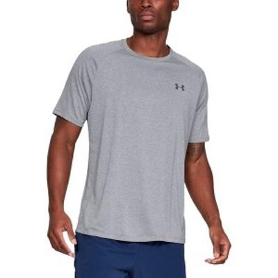 アンダーアーマー メンズ シャツ トップス Tech 2.0 Short-Sleeve Shirt Steel Light Heather/Black