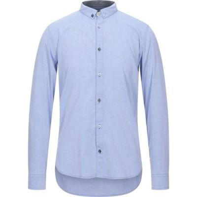 ベルナ BERNA メンズ シャツ トップス patterned shirt Azure