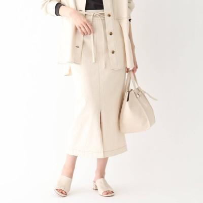 エージー バイ アクアガール AG by aquagirl コットンマキシタイトスカート (オフホワイト)