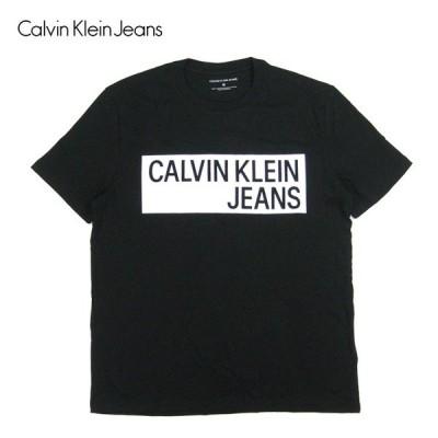 Calvin Klein カルバンクラインジーンズ Tシャツ RECTANGLE BOX LOGO TEE メンズ トップス カットソー 半袖 tシャツメール便対応可 /CK92