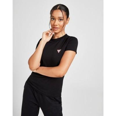 ゲス GUESS レディース Tシャツ トップス Small Logo Slim T-Shirt black