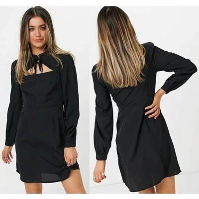 ニュールック フリル ドレス New Look タイフリルディテールミニドレス