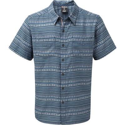 シャーパ シャツ メンズ トップス Sherpa Men's Bhaku Shirt Neelo Blue