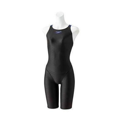 Speedo(スピード) 競泳水着 女の子 ジュニア セミオープンバック ニースキン2 FLEXΣII フレックスシグマ2 FINA 承認モデル SCG12050F ブラック×ブルー KB 140