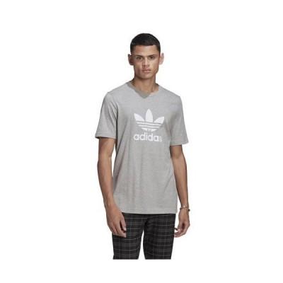 (取寄)アディダス オリジナルス メンズ トレフォイル Tシャツ adidas originals Men's Trefoil T-Shirt Medium Grey Heather White 送料無料