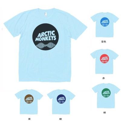 音楽・バンド・ロック・シネマ  Tシャツ ARCTIC MONKEYS 水色