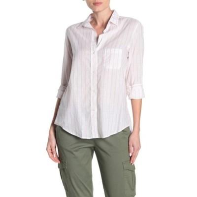 グレイソン レディース シャツ トップス The Hero Washed Stripe Print Cotton Shirt WALKER WHI