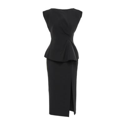 RACHEL GILBERT 7分丈ワンピース・ドレス ブラック 0 ポリエステル 97% / ポリウレタン 3% 7分丈ワンピース・ドレス