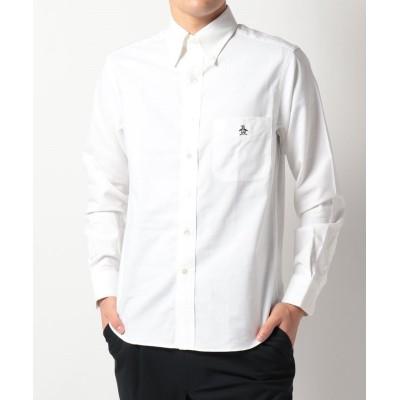 【マンシングウェア】  クラブハウスコレクション ワイドスプレッドシャツ メンズ ホワイト系 L Munsingwear