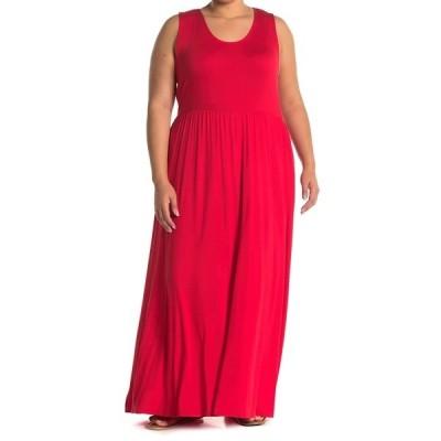 ウエスト ケイ レディース ワンピース トップス Sleeveless Knit Maxi Dress RED