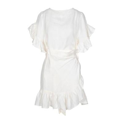 カオス KAOS ミニワンピース&ドレス アイボリー 42 リネン 100% ミニワンピース&ドレス