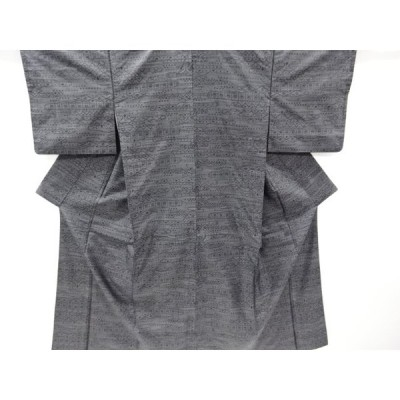 宗sou 抽象模様織り出し本場泥大島紬着物【リサイクル】【着】